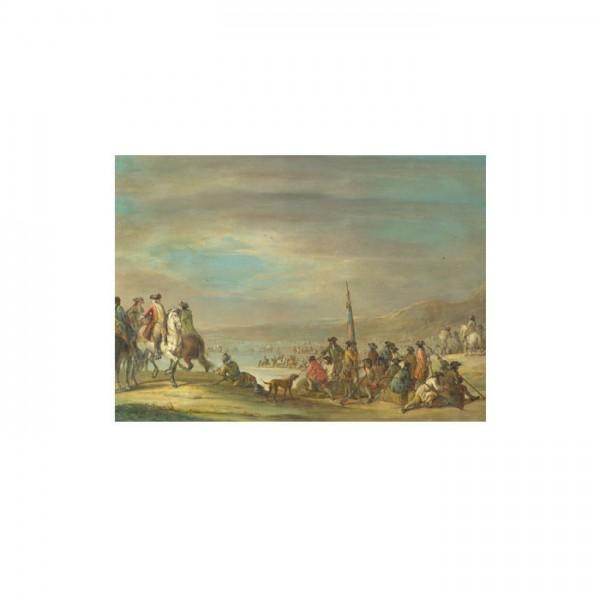 Francesco Simonini - A Campaign Scene 50x70 cm