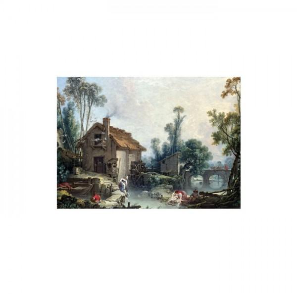 Francois Boucher - Landscape with a Watermill 50x70 cm