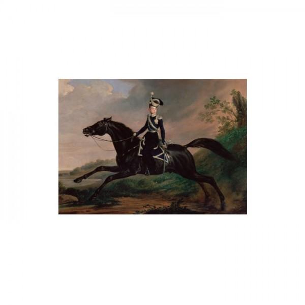 Franz Kruger - Equestrian Portrait of Grand Prince Alexander Nikolayevich 50x70 cm