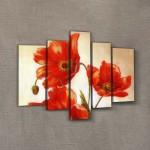 Gelincik-2 95x70 cm Kanvas Tablo
