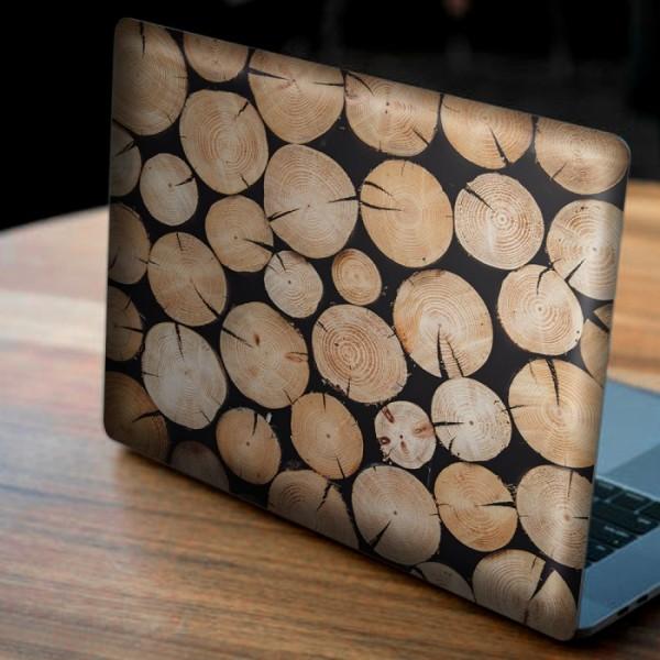 İstiflenmiş Odunlar Notebook Sticker