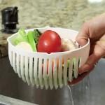 Pratik Salata Yapma Kasesi Kolay Salata Yapma Aparatı Tabağı
