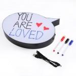 Kalemle Yazılabilen Konuşma Balonu Görünümlü Işıklı Mesaj Panosu