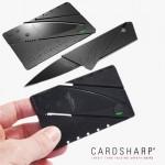 Kredi Kartı Şeklinde Fonksiyonel Katlanabilir Siyah Cep Chakısı