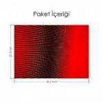 Makro Kırmızı Led Notebook Sticker