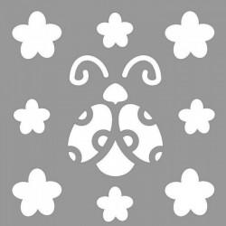 Minik Uğurböceği Stencil Tasarımı 30 x 30 cm