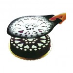 Dekoratif Desenli Pasta Süsleme Şablonu ve Pasta Taşıma Aleti