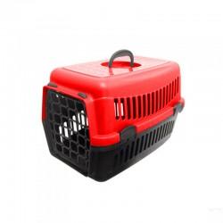 Plastik Kedi Köpek Taşıma Çantası 32,5 / 48 cm Kırmızı