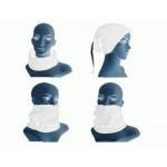 Beyaz Renki Çok Fonksiyonlu Unisex Polar Bere Boyunluk Saç Bandı