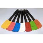 Dekoratif Renkli Silikon Spatula Pratik Sevimli Spatula Kaşık