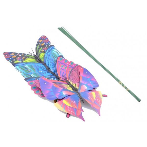 Dekoratif Saksı Duvar Perde Süs Kelebekleri Küçük Boy 10 Adet