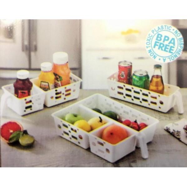 Buzdolabı İçi Düzenleyici Plastik Saplı Mini Organizer Sepet