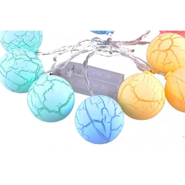 Dekoratif Minik 10 Toplu Ledli  Dekoratif Dolama Renkli Led