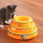Tower of Tracks 3 Katlı Kedi Oyuncağı