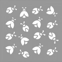 Uğurböceği Desen Stencil Tasarımı 30 x 30 cm