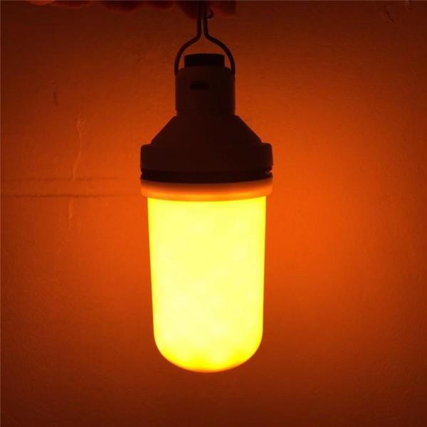 Dekoratif Alev Ateş Efekti Veren Sensörlü Led Ampül  Aydınlatma